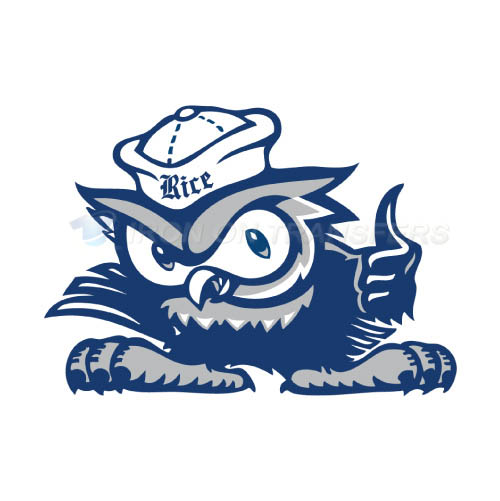 Rice Owls Iron-on Stickers (Heat Transfers)NO.5991