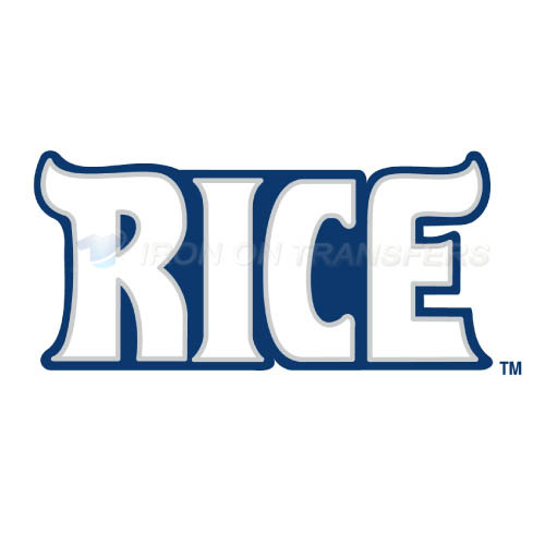 Rice Owls Iron-on Stickers (Heat Transfers)NO.5993