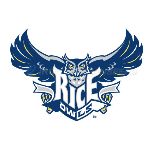 Rice Owls Iron-on Stickers (Heat Transfers)NO.5995