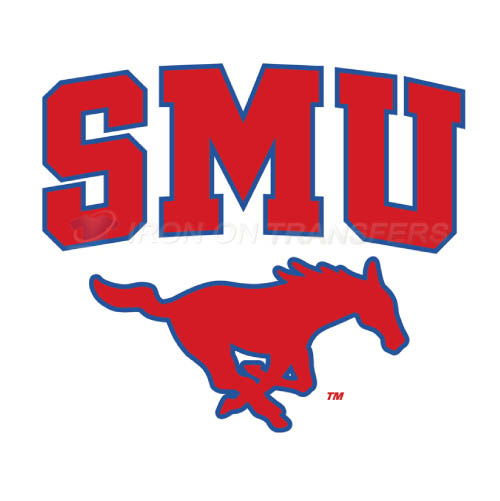 Southern Methodist Mustangs Iron-on Stickers (Heat Transfers)NO.6287