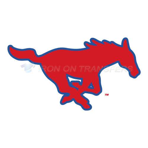 Southern Methodist Mustangs Iron-on Stickers (Heat Transfers)NO.6291