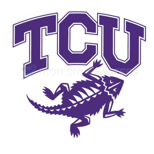 TCU Horned Frogs Iron-on Stickers (Heat Transfers)NO.6427