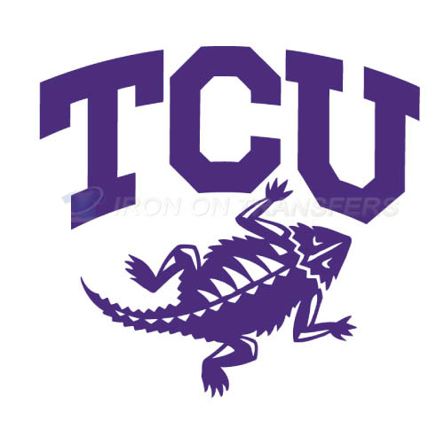 TCU Horned Frogs Iron-on Stickers (Heat Transfers)NO.6429