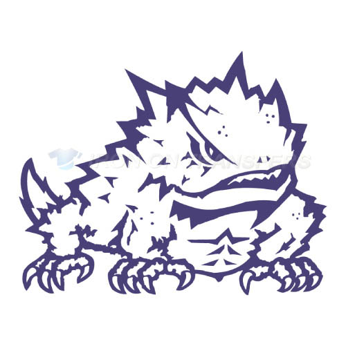 TCU Horned Frogs Iron-on Stickers (Heat Transfers)NO.6433