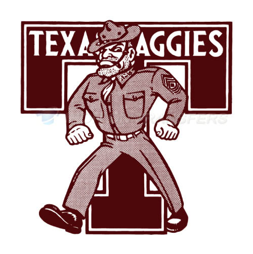 Texas A M Aggies Iron-on Stickers (Heat Transfers)NO.6496