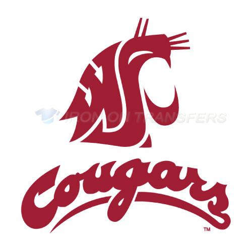 Washington State Cougars Iron-on Stickers (Heat Transfers)NO.6905
