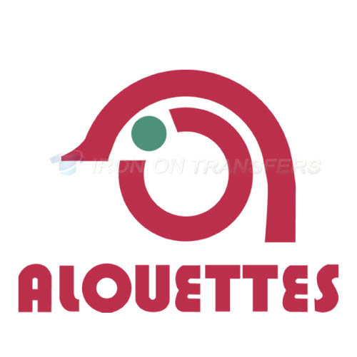 Montreal Alouettes Iron-on Stickers (Heat Transfers)NO.7610