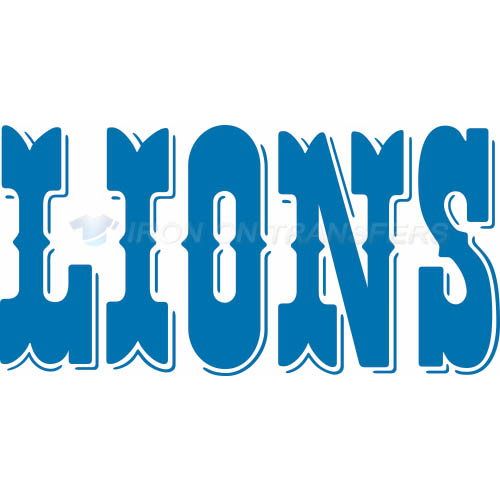 Detroit Lions Iron-on Stickers (Heat Transfers)NO.515