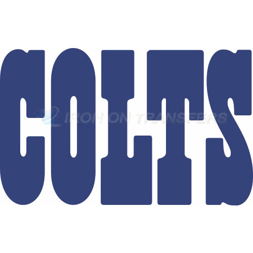 Indianapolis Colts Iron-on Stickers (Heat Transfers)NO.541