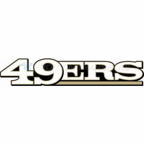 San Francisco 49ers Iron-on Stickers (Heat Transfers)NO.743