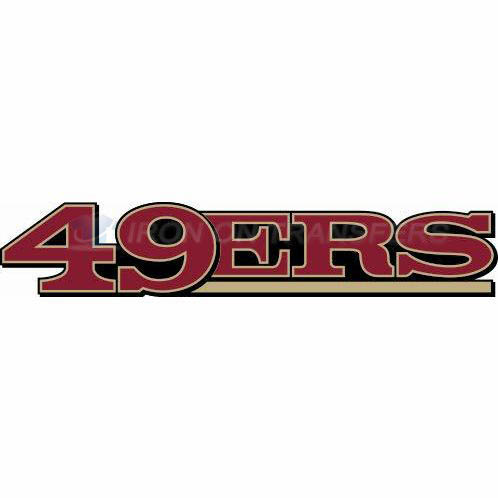 San Francisco 49ers Iron-on Stickers (Heat Transfers)NO.744
