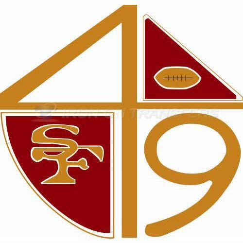 San Francisco 49ers Iron-on Stickers (Heat Transfers)NO.746