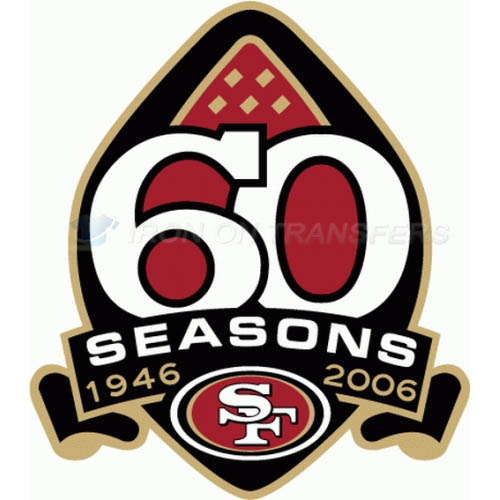 San Francisco 49ers Iron-on Stickers (Heat Transfers)NO.747