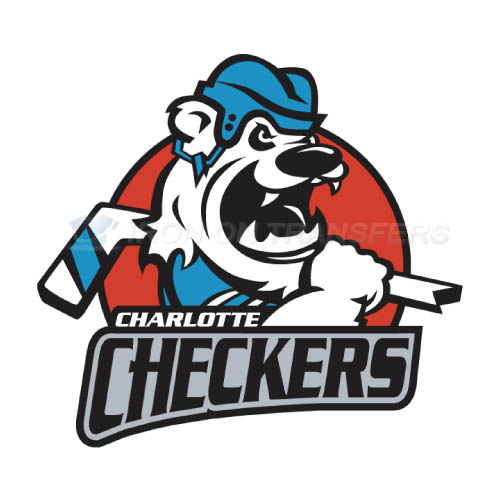 Charlotte Checkers Iron-on Stickers (Heat Transfers)NO.8994