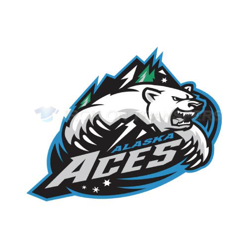 Alaska Aces Iron-on Stickers (Heat Transfers)NO.9214
