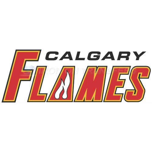 Calgary Flames Iron-on Stickers (Heat Transfers)NO.96