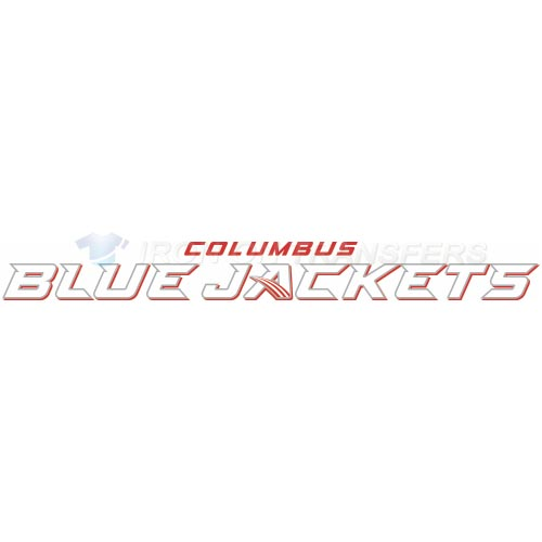 Columbus Blue Jackets Iron-on Stickers (Heat Transfers)NO.122