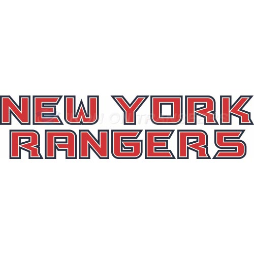 New York Rangers Iron-on Stickers (Heat Transfers)NO.239