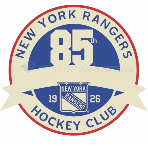 New York Rangers Iron-on Stickers (Heat Transfers)NO.244