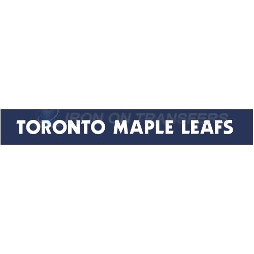 Toronto Maple Leafs Iron-on Stickers (Heat Transfers)NO.344