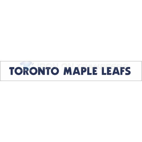 Toronto Maple Leafs Iron-on Stickers (Heat Transfers)NO.345