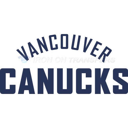 Vancouver Canucks Iron-on Stickers (Heat Transfers)NO.356