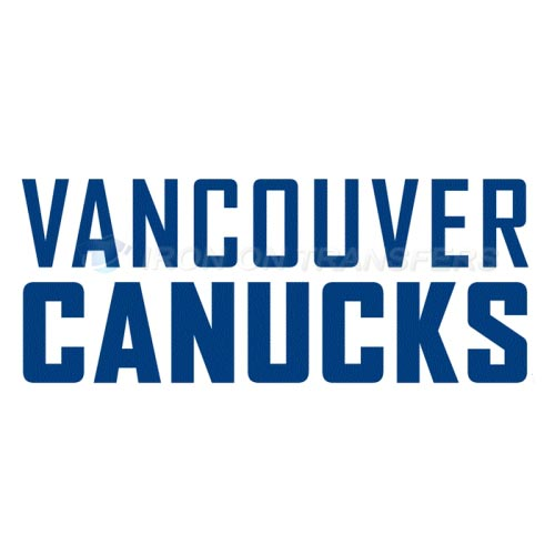 Vancouver Canucks Iron-on Stickers (Heat Transfers)NO.363