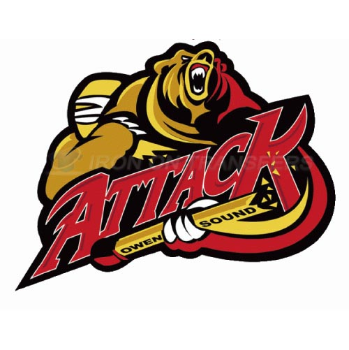 Owen Sound Attack Iron-on Stickers (Heat Transfers)NO.7370