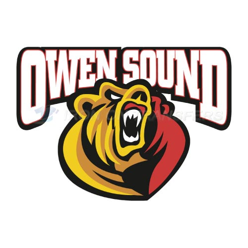 Owen Sound Attack Iron-on Stickers (Heat Transfers)NO.7373