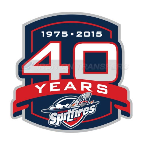 Windsor Spitfires Iron-on Stickers (Heat Transfers)NO.7402