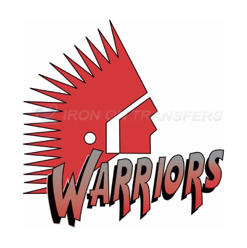Moose Jaw Warriors Iron-on Stickers (Heat Transfers)NO.7523