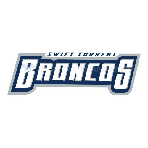 Swift Current Broncos Iron-on Stickers (Heat Transfers)NO.7552