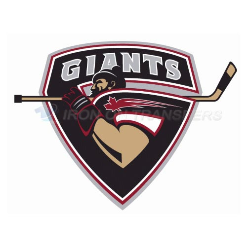 Vancouver Giants Iron-on Stickers (Heat Transfers)NO.7563