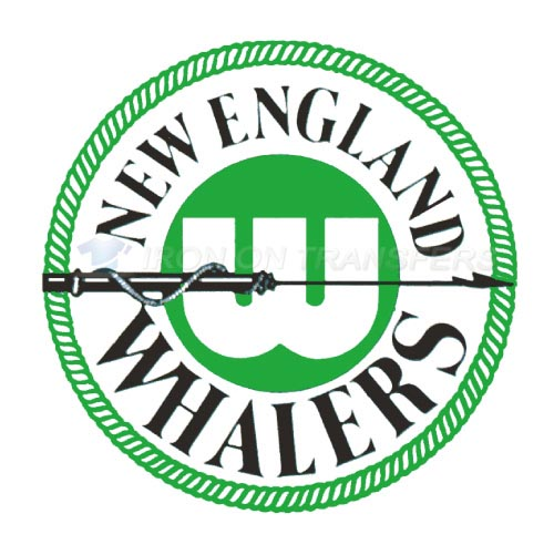 New England Whalers Iron-on Stickers (Heat Transfers)NO.7122
