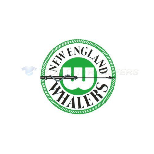 New England Whalers Iron-on Stickers (Heat Transfers)NO.7128
