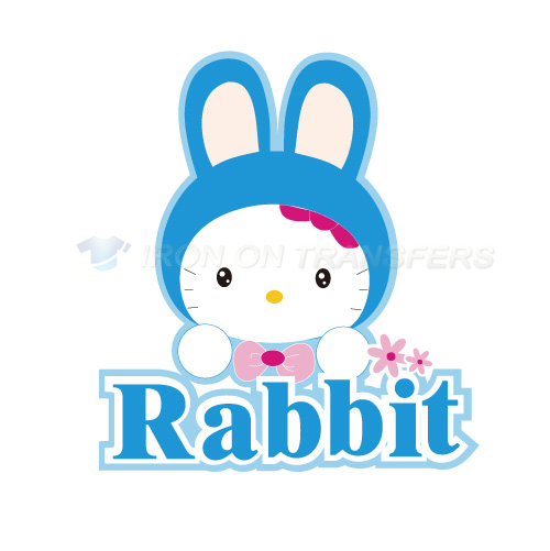 Rabbit Iron-on Stickers (Heat Transfers)NO.8949