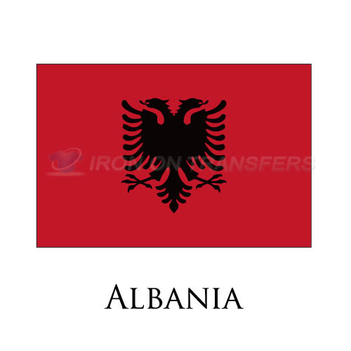 Albania flag Iron-on Stickers (Heat Transfers)NO.1810