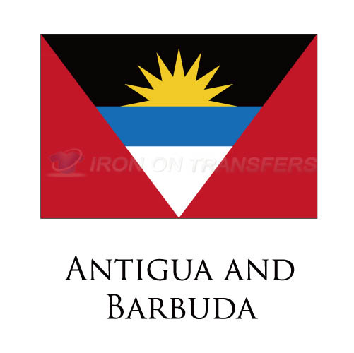 Antigua And Barbuda flag Iron-on Stickers (Heat Transfers)NO.1815