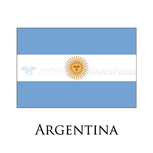 Argentina flag Iron-on Stickers (Heat Transfers)NO.1816