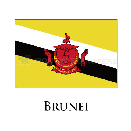 Brunei flag Iron-on Stickers (Heat Transfers)NO.1836