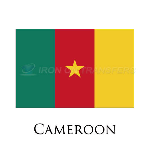 Cameroon flag Iron-on Stickers (Heat Transfers)NO.1841