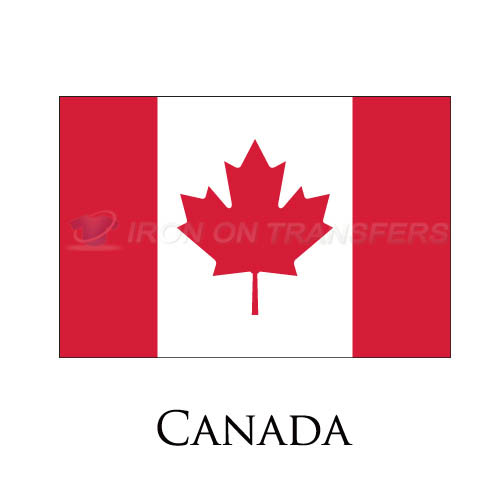 Canada flag Iron-on Stickers (Heat Transfers)NO.1842