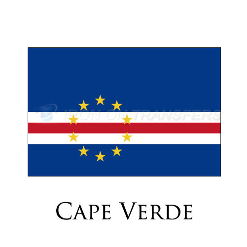 Cape Verde flag Iron-on Stickers (Heat Transfers)NO.1843