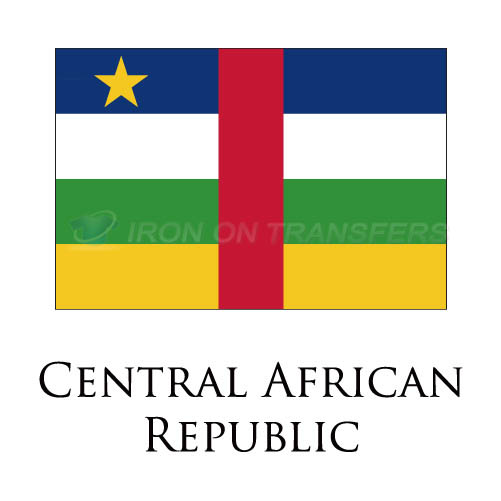 Central African Republic flag Iron-on Stickers (Heat Transfers)NO.1845