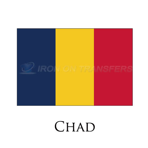 Chad flag Iron-on Stickers (Heat Transfers)NO.1846