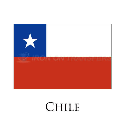 Chile flag Iron-on Stickers (Heat Transfers)NO.1847