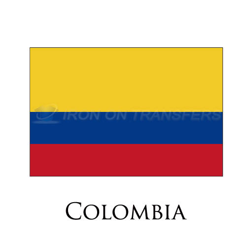 Colombia flag Iron-on Stickers (Heat Transfers)NO.1849