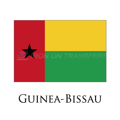 Guinea Bissau flag Iron-on Stickers (Heat Transfers)NO.1886