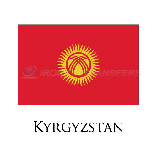 Kyrgyzstan flag Iron-on Stickers (Heat Transfers)NO.1908