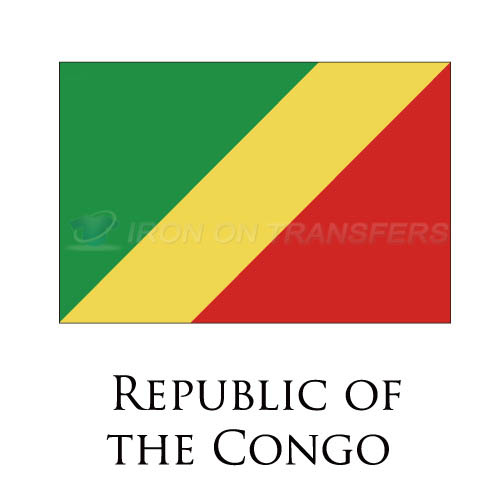 Republic Of The Congo flag Iron-on Stickers (Heat Transfers)NO.1963